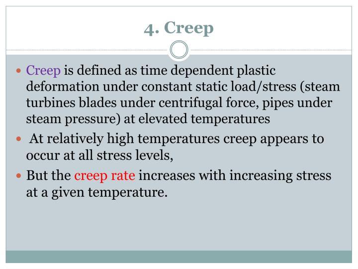 4. Creep