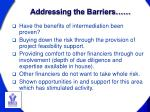 addressing the barriers
