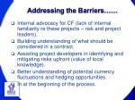 addressing the barriers1
