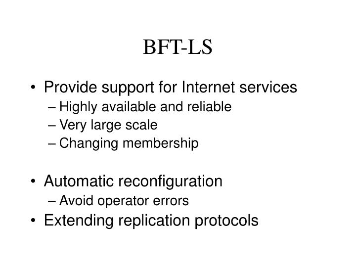 BFT-LS