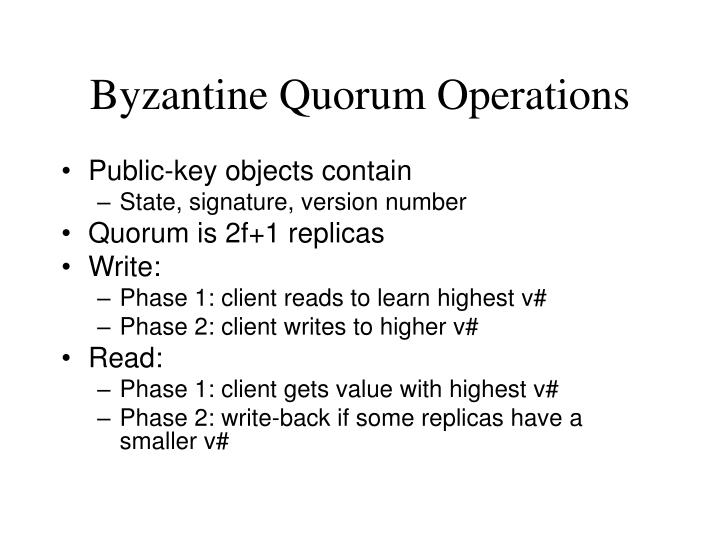 Byzantine Quorum Operations