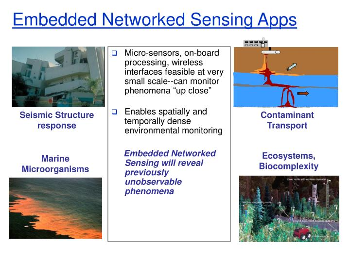 Embedded Networked Sensing Apps