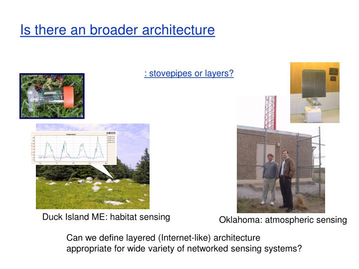 Is there an broader architecture