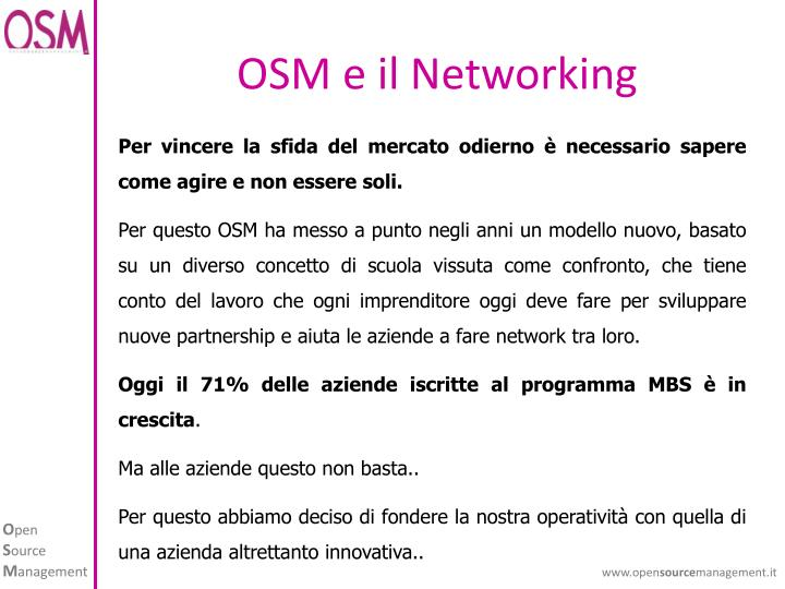 Osm e il networking