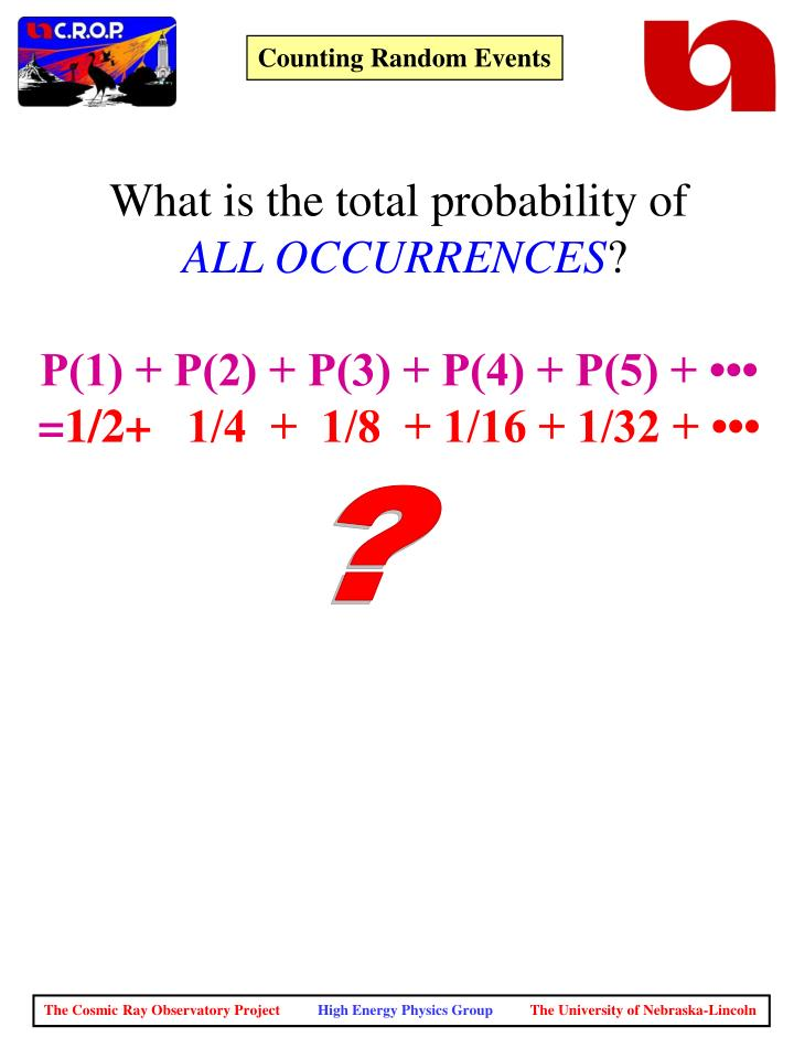What is the total probability of