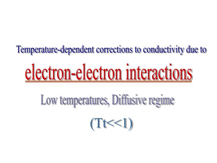 Temperature-dependent corrections to conductivity due to