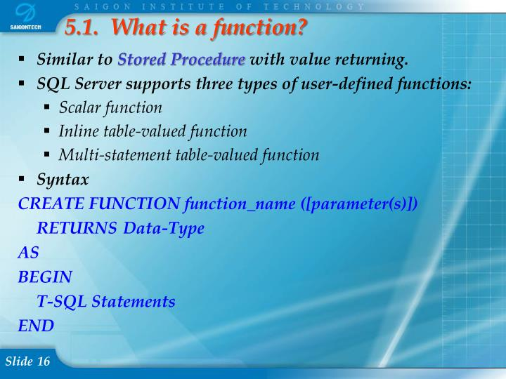 5.1.  What is a function?