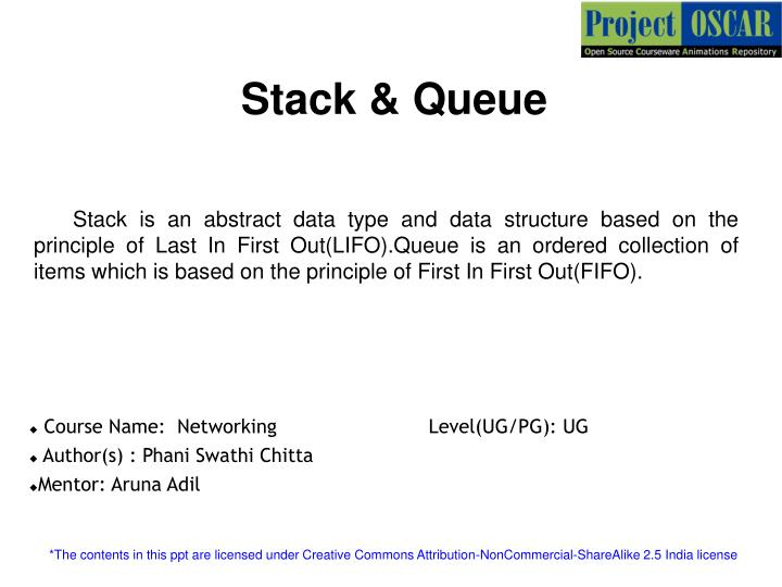 Stack & Queue