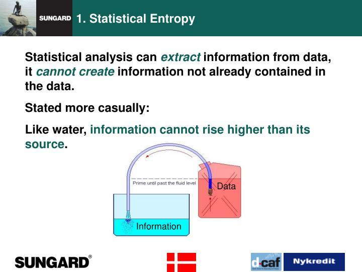 1. Statistical Entropy