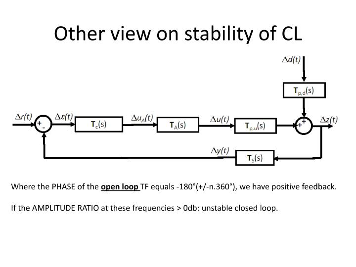 Other view on stability of cl