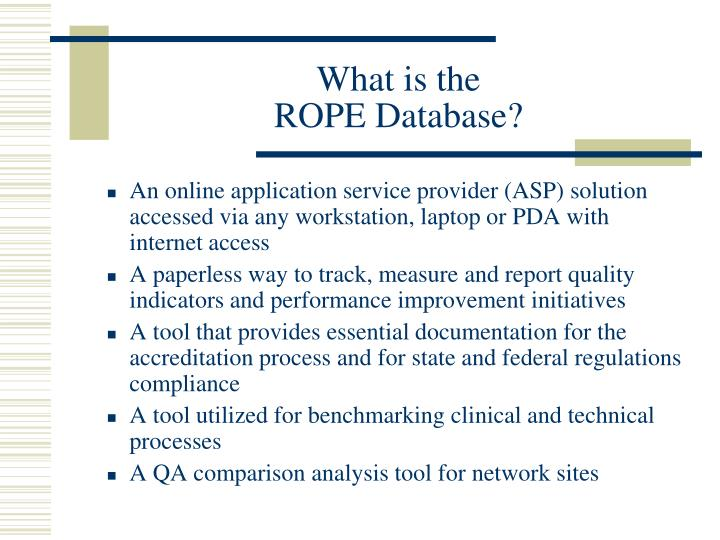 What is the rope database
