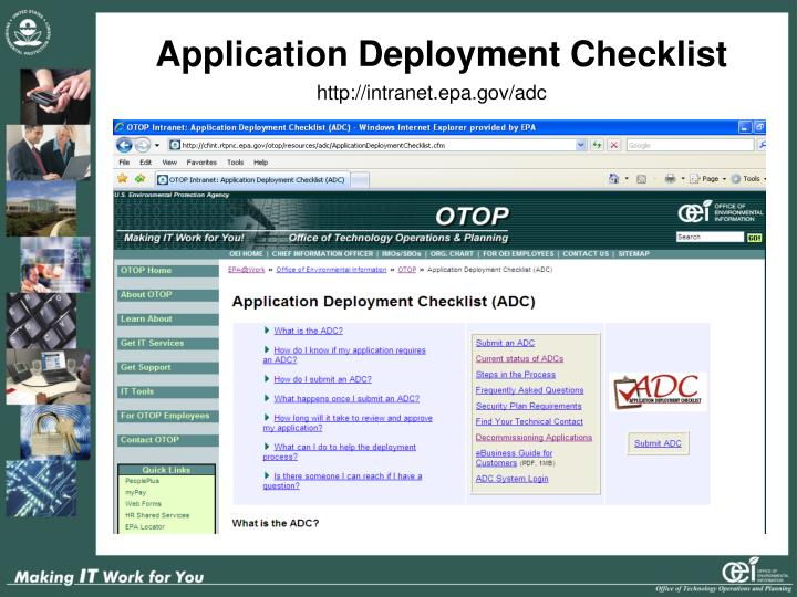 Application Deployment Checklist