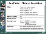 coldfusion platform description