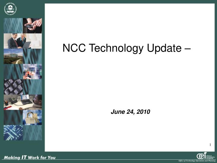 Ncc technology update