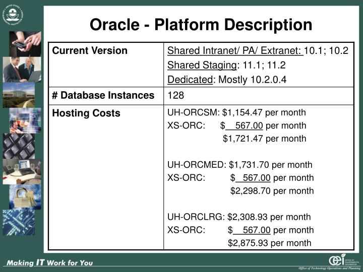 Oracle - Platform Description