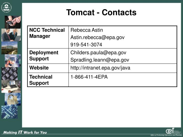 Tomcat - Contacts