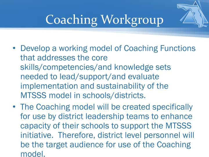 Coaching Workgroup