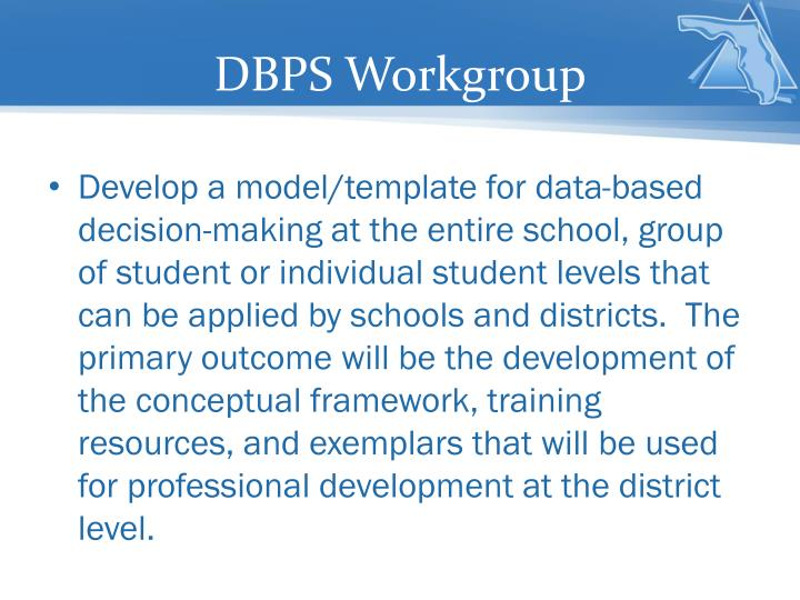 DBPS Workgroup