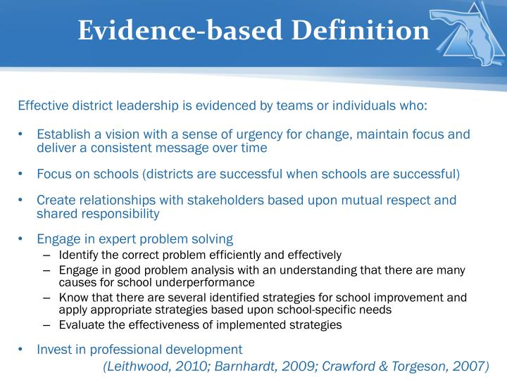 Evidence-based Definition