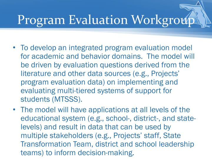 Program Evaluation Workgroup