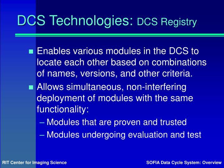 DCS Technologies: