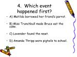 4 which event happened first