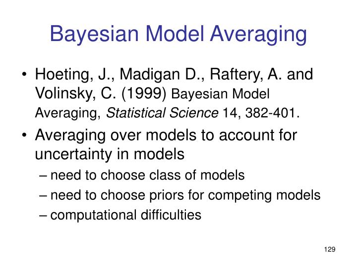 Bayesian Model Averaging