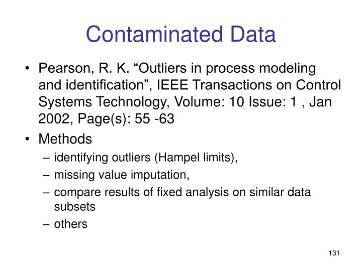 Contaminated Data