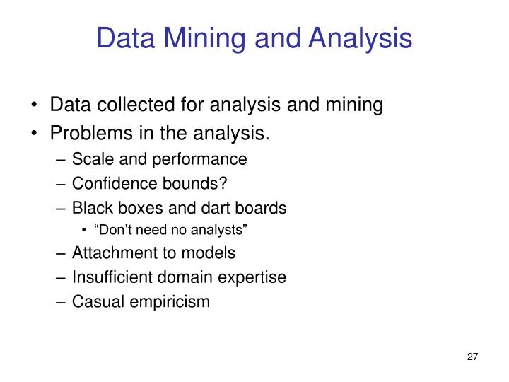 Data Mining and Analysis
