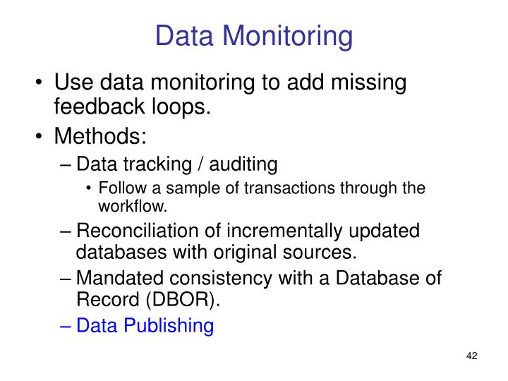 Data Monitoring
