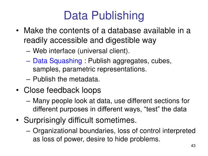 Data Publishing