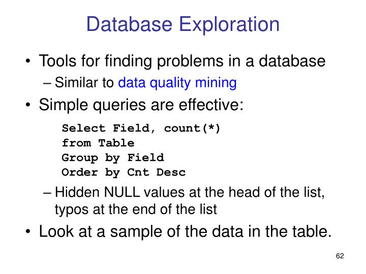 Database Exploration