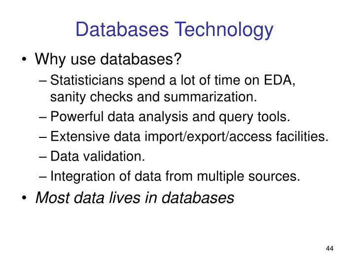 Databases Technology