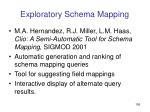 exploratory schema mapping