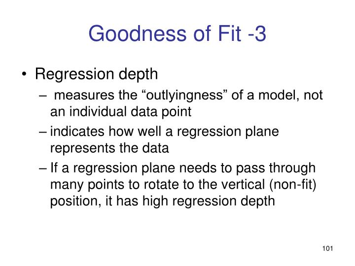 Goodness of Fit -3