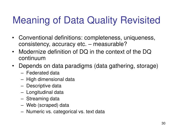 Meaning of Data Quality Revisited