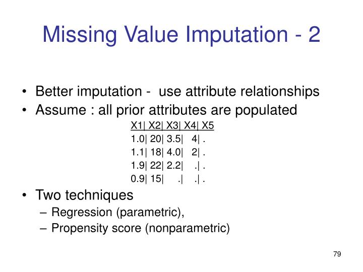 Missing Value Imputation - 2