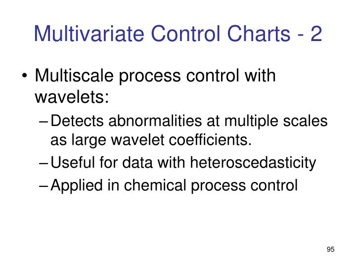 Multivariate Control Charts - 2