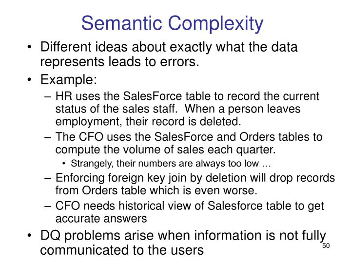 Semantic Complexity