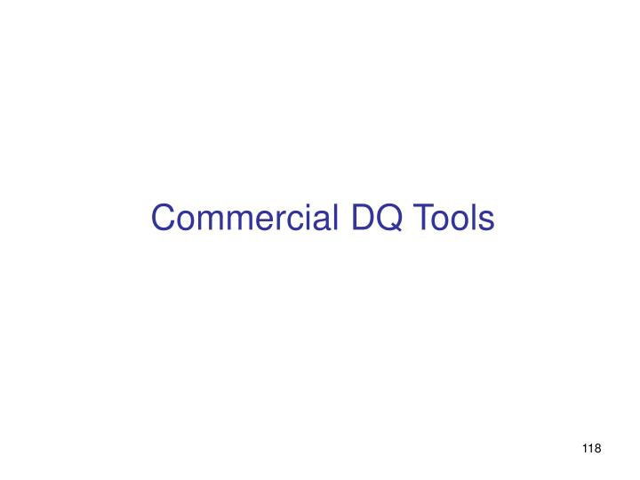 Commercial DQ Tools