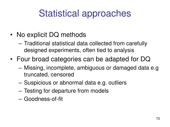 Statistical approaches