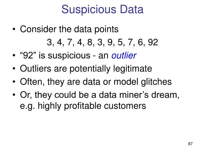 Suspicious Data