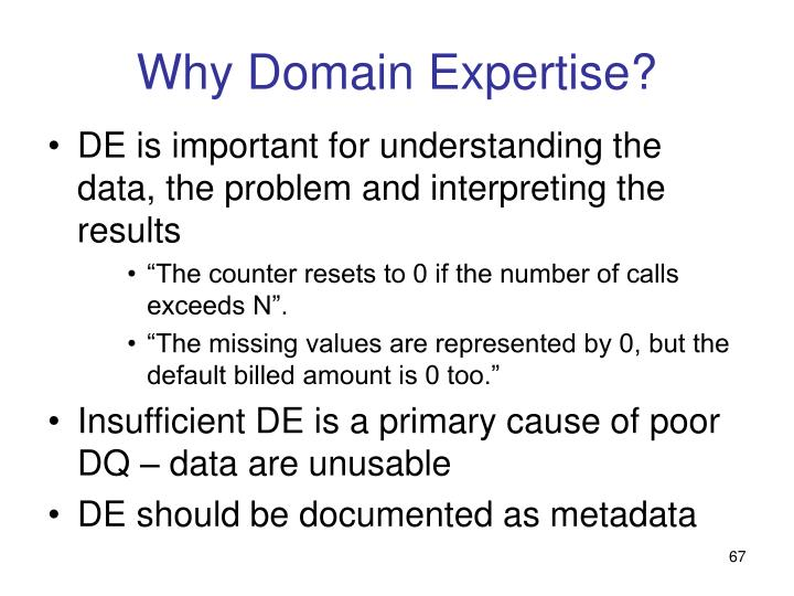 Why Domain Expertise?