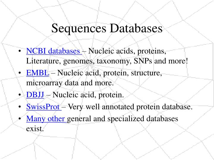 Sequences Databases
