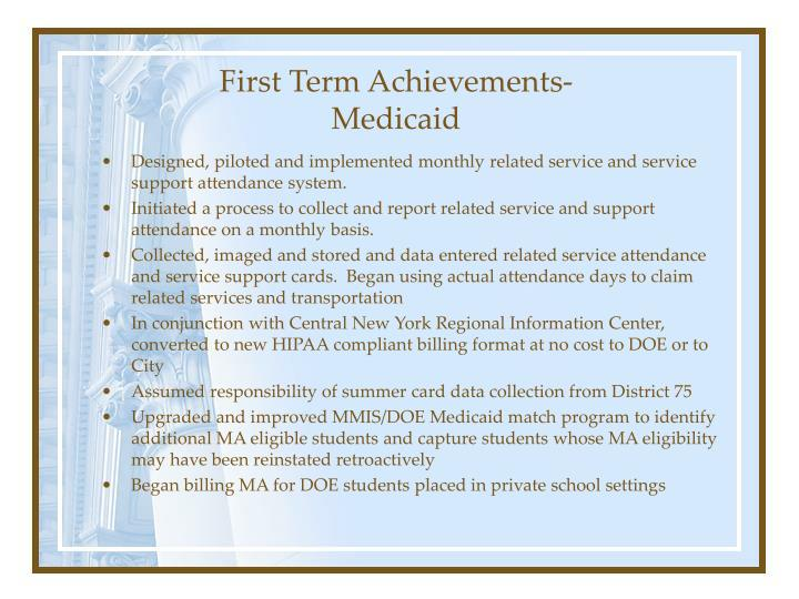 First Term Achievements-