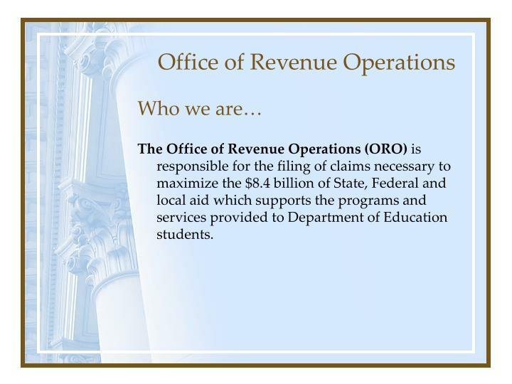 Office of revenue operations