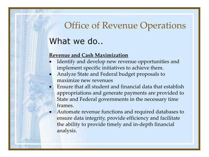 Office of revenue operations1