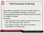 well founded ordering