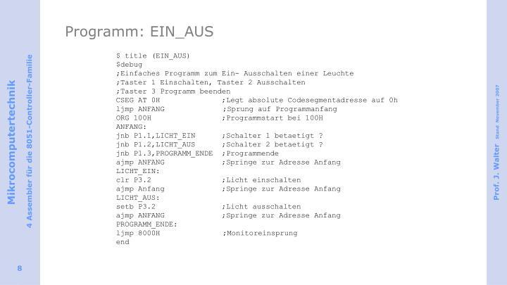 Programm: EIN_AUS