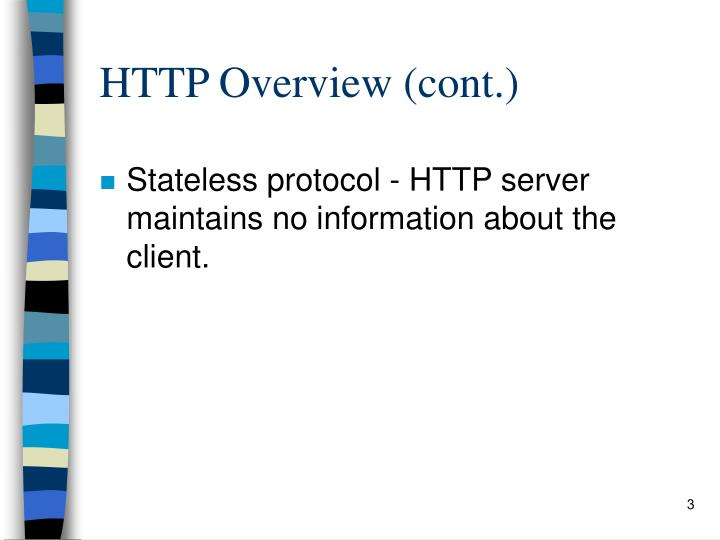 HTTP Overview (cont.)